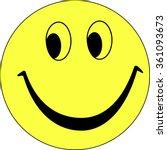 yellow smiley face vector | Shutterstock .eps vector #361093673