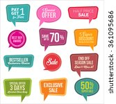 promotional colorful web sale... | Shutterstock .eps vector #361095686