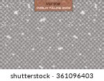 isolated falling snow overlay | Shutterstock .eps vector #361096403