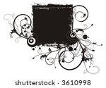 floral grunge frame series. a... | Shutterstock .eps vector #3610998