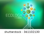 ecology infographic. think green | Shutterstock .eps vector #361102130