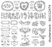 valentines day doodles flower... | Shutterstock .eps vector #361112474