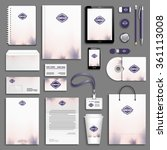purple rose corporate identity... | Shutterstock .eps vector #361113008