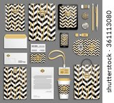 gold brush strokes and black... | Shutterstock .eps vector #361113080