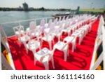 blurry image of set up the... | Shutterstock . vector #361114160