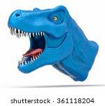 3d isolated t rex head....   Shutterstock . vector #361118204