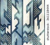 blue cloth seamless pattern. | Shutterstock .eps vector #361118444