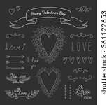 vector hand drawn set of... | Shutterstock .eps vector #361122653