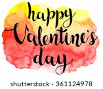 valentines day calligraphy on... | Shutterstock .eps vector #361124978