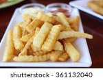 fresh and tasty french fried on ... | Shutterstock . vector #361132040