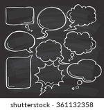 hand drawn speech bubble doodle ... | Shutterstock .eps vector #361132358