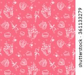 seamless vector pattern with ... | Shutterstock .eps vector #361133279