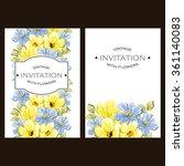 vintage delicate invitation...   Shutterstock . vector #361140083