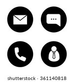 tech support black icons set....