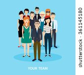 business team. teamwork. social ... | Shutterstock .eps vector #361145180