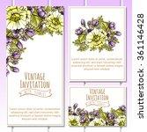 vintage delicate invitation... | Shutterstock . vector #361146428