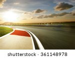 motion blurred racetrack warm... | Shutterstock . vector #361148978
