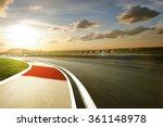 Motion Blurred Racetrack Warm...