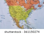map of united states and north... | Shutterstock . vector #361150274
