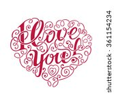 hand draw lettering i love you... | Shutterstock . vector #361154234