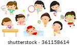 girl sports cute vector set | Shutterstock .eps vector #361158614
