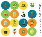 saint patricks day icon set | Shutterstock .eps vector #361162880