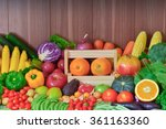 fresh fruits and vegetables for ... | Shutterstock . vector #361163360