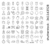 medical icons set  outline theme | Shutterstock .eps vector #361163528