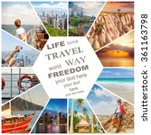 beautiful vacation collage made ... | Shutterstock . vector #361163798