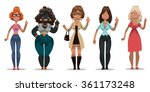 vector set of images of angry... | Shutterstock .eps vector #361173248
