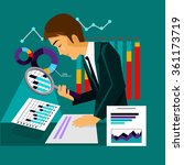 man analysis infographic and...   Shutterstock . vector #361173719
