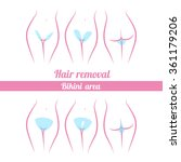 scheme of hair removal bikini... | Shutterstock .eps vector #361179206