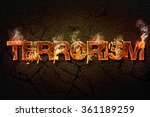terrorism  text. | Shutterstock . vector #361189259