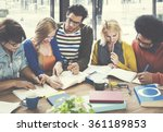 team meeting ideas discussion... | Shutterstock . vector #361189853