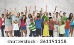 ethnicity crowd happiness... | Shutterstock . vector #361191158