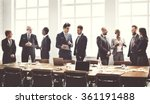 business group meeting... | Shutterstock . vector #361191488
