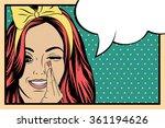 pop art illustration of girl... | Shutterstock .eps vector #361194626