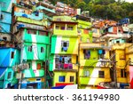 colorful painted buildings of...   Shutterstock . vector #361194980