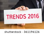 trends 2016  message on white... | Shutterstock . vector #361196126
