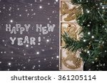 new year's card with christmas... | Shutterstock . vector #361205114