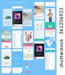 vector phone gui template.... | Shutterstock .eps vector #361206923