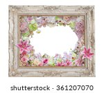vintage photo frame with slower ... | Shutterstock . vector #361207070