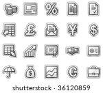 finance web icons  grey sticker ... | Shutterstock .eps vector #36120859