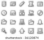 server web icons  grey sticker... | Shutterstock .eps vector #36120874