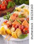 barbecue raw fish | Shutterstock . vector #361216163