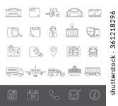 line icons   logistics   Shutterstock .eps vector #361218296