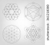 sacred geometry. vector... | Shutterstock .eps vector #361218380
