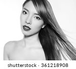 beautiful young asian woman... | Shutterstock . vector #361218908