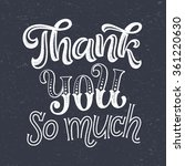 thank you vector text on... | Shutterstock .eps vector #361220630