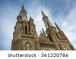catholic cathedral church ... | Shutterstock . vector #361220786
